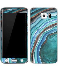 Turquoise Watercolor Geode Galaxy S6 Edge Skin