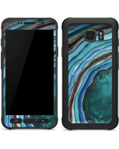 Turquoise Watercolor Geode Galaxy S7 Active Skin