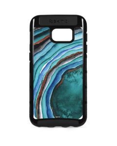 Turquoise Watercolor Geode Galaxy S7 Edge Cargo Case
