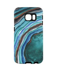 Turquoise Watercolor Geode Galaxy S7 Edge Pro Case