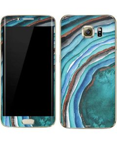 Turquoise Watercolor Geode Galaxy S7 Edge Skin