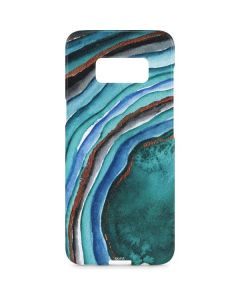 Turquoise Watercolor Geode Galaxy S8 Plus Lite Case