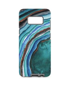 Turquoise Watercolor Geode Galaxy S8 Pro Case