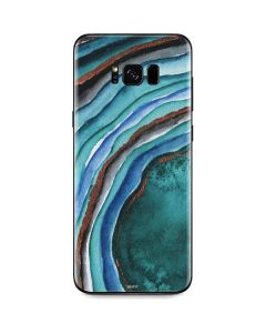 Turquoise Watercolor Geode Galaxy S8 Skin