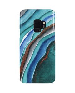 Turquoise Watercolor Geode Galaxy S9 Lite Case