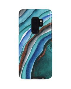 Turquoise Watercolor Geode Galaxy S9 Plus Pro Case