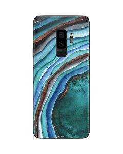 Turquoise Watercolor Geode Galaxy S9 Plus Skin