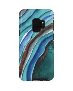 Turquoise Watercolor Geode Galaxy S9 Pro Case