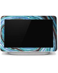 Turquoise Watercolor Geode Google Home Hub Skin