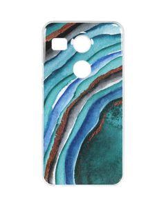 Turquoise Watercolor Geode Google Nexus 5X Clear Case