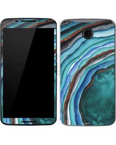 Turquoise Watercolor Geode Google Nexus 6 Skin