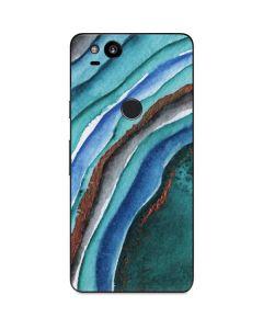 Turquoise Watercolor Geode Google Pixel 2 Skin
