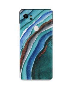 Turquoise Watercolor Geode Google Pixel 2 XL Skin