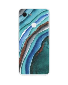 Turquoise Watercolor Geode Google Pixel 3 Skin
