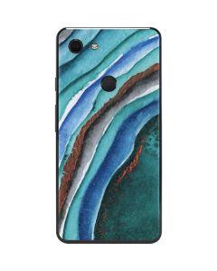Turquoise Watercolor Geode Google Pixel 3 XL Skin