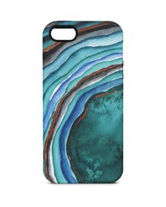 Turquoise Watercolor Geode iPhone 5/5s/SE Pro Case