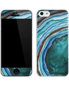Turquoise Watercolor Geode iPhone 5c Skin