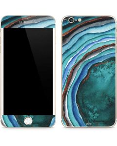 Turquoise Watercolor Geode iPhone 6/6s Plus Skin