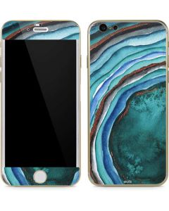 Turquoise Watercolor Geode iPhone 6/6s Skin