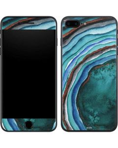 Turquoise Watercolor Geode iPhone 7 Plus Skin
