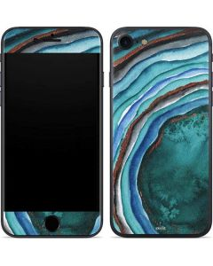 Turquoise Watercolor Geode iPhone 7 Skin