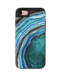 Turquoise Watercolor Geode iPhone 7 Wallet Case