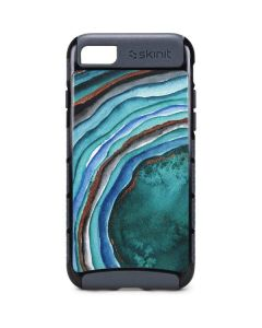 Turquoise Watercolor Geode iPhone 8 Cargo Case