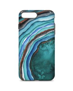Turquoise Watercolor Geode iPhone 8 Plus Pro Case
