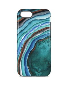 Turquoise Watercolor Geode iPhone 8 Pro Case