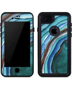 Turquoise Watercolor Geode iPhone 8 Waterproof Case