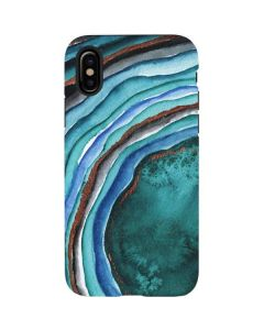 Turquoise Watercolor Geode iPhone X Pro Case