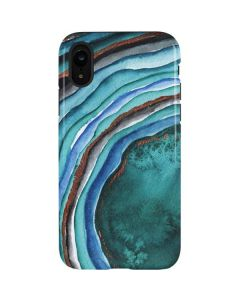 Turquoise Watercolor Geode iPhone XR Pro Case