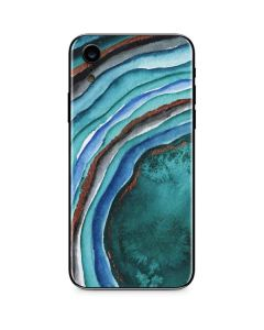 Turquoise Watercolor Geode iPhone XR Skin