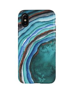 Turquoise Watercolor Geode iPhone XS Pro Case