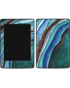 Turquoise Watercolor Geode Amazon Kindle Skin