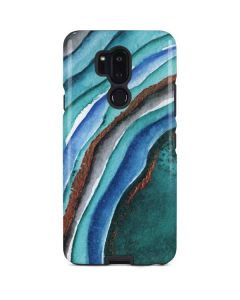 Turquoise Watercolor Geode LG G7 ThinQ Pro Case