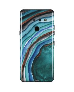 Turquoise Watercolor Geode LG G8 ThinQ Skin