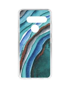 Turquoise Watercolor Geode LG V40 ThinQ Clear Case