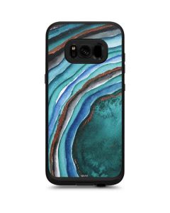 Turquoise Watercolor Geode LifeProof Fre Galaxy Skin