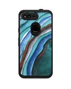 Turquoise Watercolor Geode LifeProof Fre Google Skin