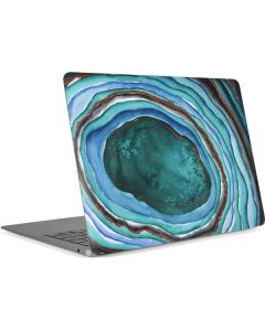 Turquoise Watercolor Geode Apple MacBook Air Skin