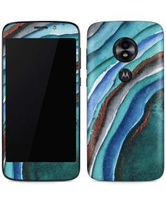 Turquoise Watercolor Geode Moto E5 Play Skin