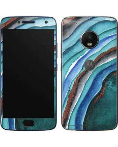 Turquoise Watercolor Geode Moto G5 Plus Skin