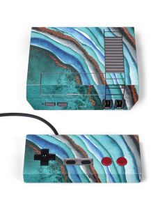 Turquoise Watercolor Geode NES Classic Edition Skin