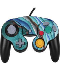 Turquoise Watercolor Geode Nintendo GameCube Controller Skin