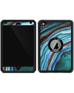 Turquoise Watercolor Geode Otterbox Defender iPad Skin