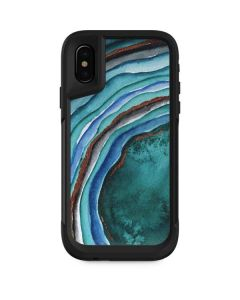 Turquoise Watercolor Geode Otterbox Pursuit iPhone Skin