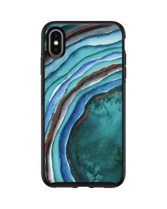 Turquoise Watercolor Geode Otterbox Symmetry iPhone Skin