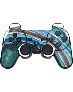 Turquoise Watercolor Geode PS3 Dual Shock wireless controller Skin