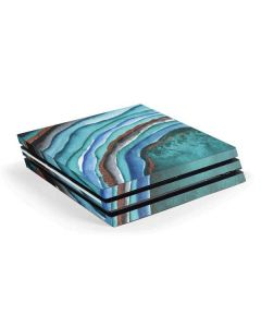 Turquoise Watercolor Geode PS4 Pro Console Skin